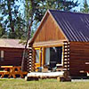 Madison Arm Resort - lakefront cabins - Authentic log cabins overlooking Hebgen Lake. Each features living area, kitchen, master suite & loft (w/double beds, total sleeping 4), just $180/double occ. Store & marina.