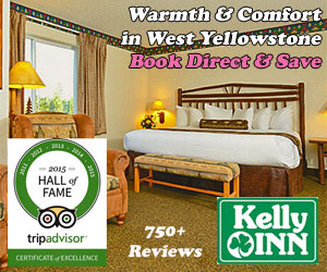 Yellowstone Kelly Inn - 790+ reviews in TripAdvisor. Featuring expansive pool & hot tub, Kid & Pet Friendly, just a block to the Park w/expanded Continental Breakfast & hot protein. Attentive staff.